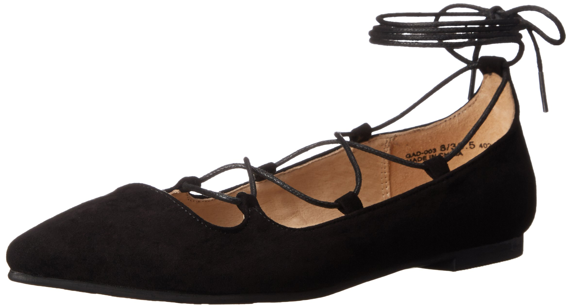 Chinese Laundry Women's Endless Summer Ghillie Flat, Black Suede, 10 M US