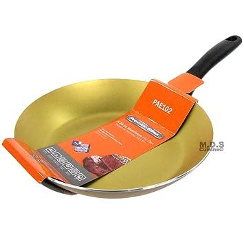 Sartén antiadherente de teflón de 9 pulgadas Golden mango sartén de aluminio: Amazon.es: Hogar