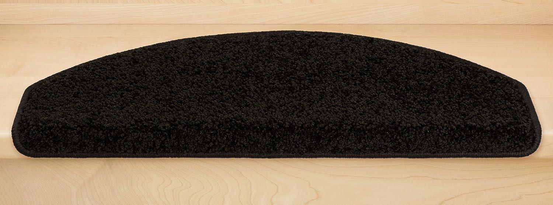 Kettelservice-Metzker Stufenmatten, Stufenmatten, Stufenmatten, Treppenteppich Marseille Halbrund - Trittfläche  ca. 65x24cm Braun 14 Stück 1a9273