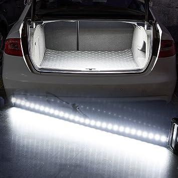Tira de luces LED para maletero de coche, de Rayhoo, 30 - SMD - 5050, zona de carga o iluminación interior, color blanco: Amazon.es: Coche y moto