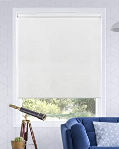 "Chicology Cordless Roller Shades Snap-N'-Glide, Light FilteringPerfect for Living Room/Bedroom/Nursery/Office and More.Urban White (Light Filtering), 27""W X 72""H"
