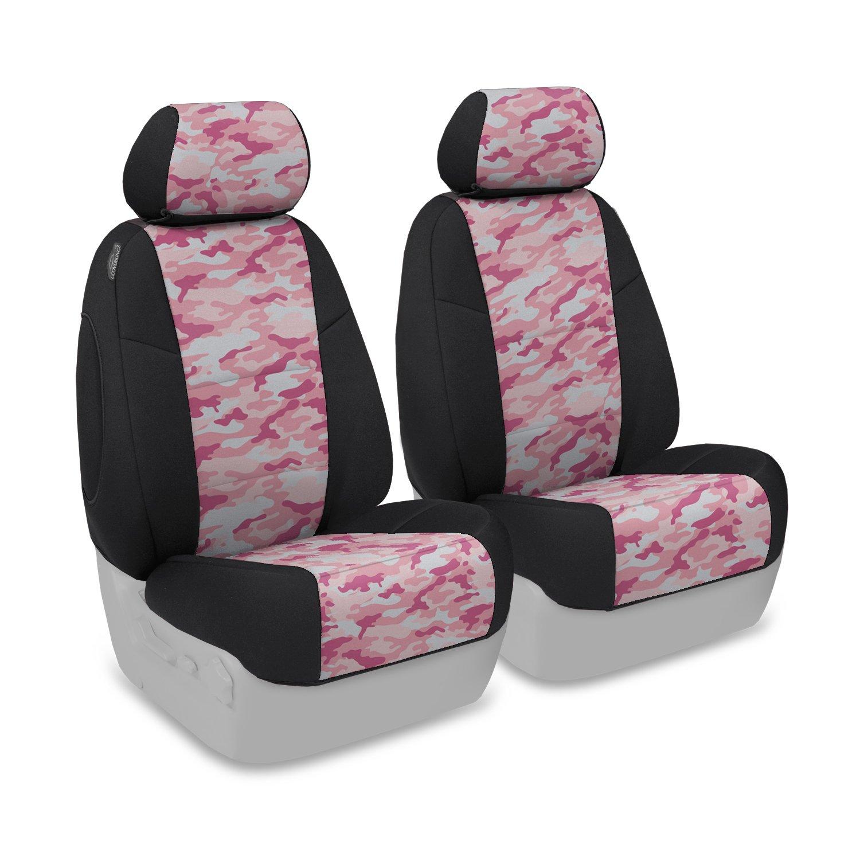 CoverkingカスタムフィットシートのカバーフォードモデルNeosupreme (従来のピンクのカモフラージュ柄ブラックサイド)B00U9RM7BO--