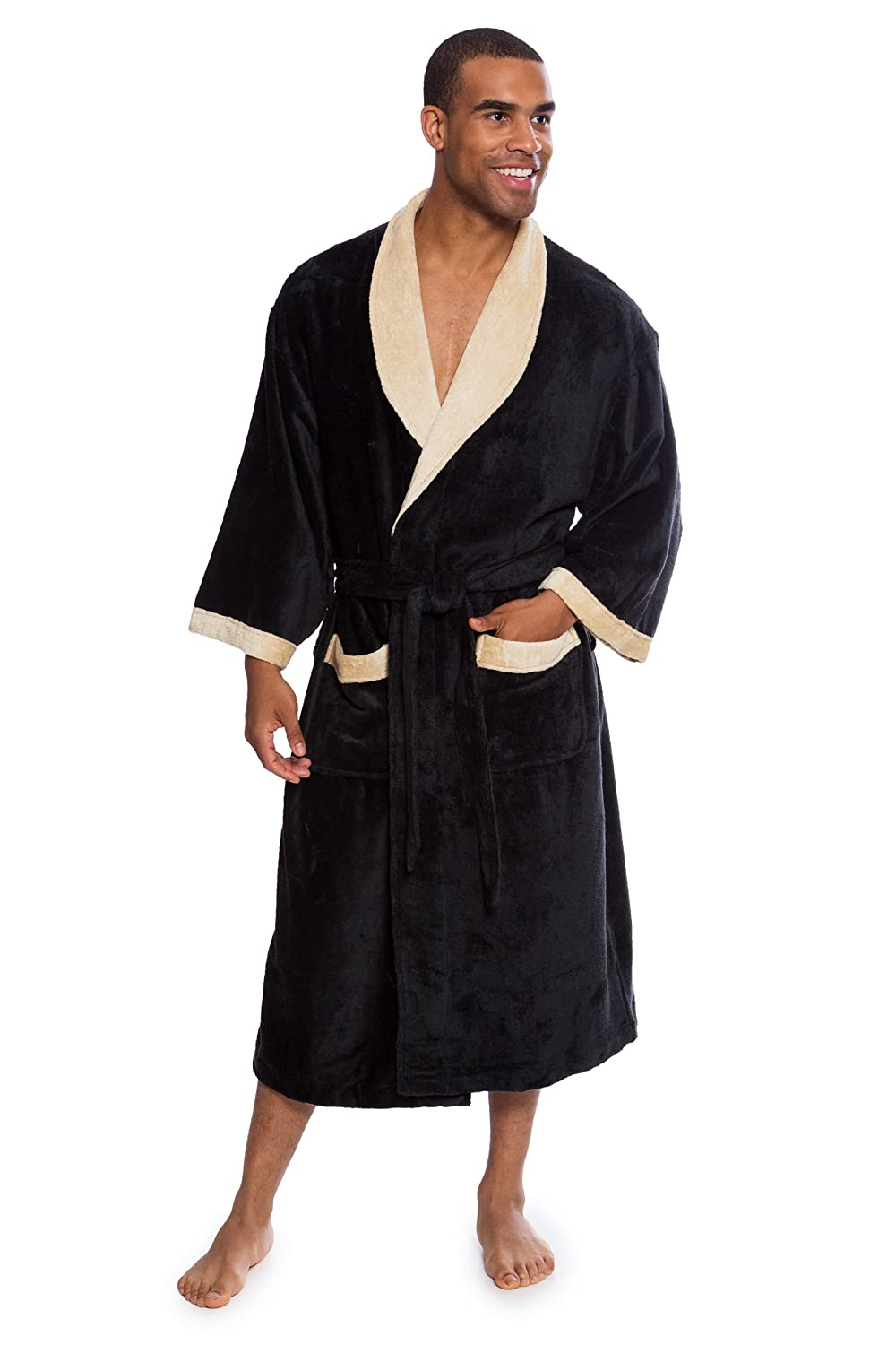 fbf7433f23 Texere Men s Terry Cloth Bath Robe - Comfortable Spa Gift for Him  (Turilano) at Amazon Men s Clothing store