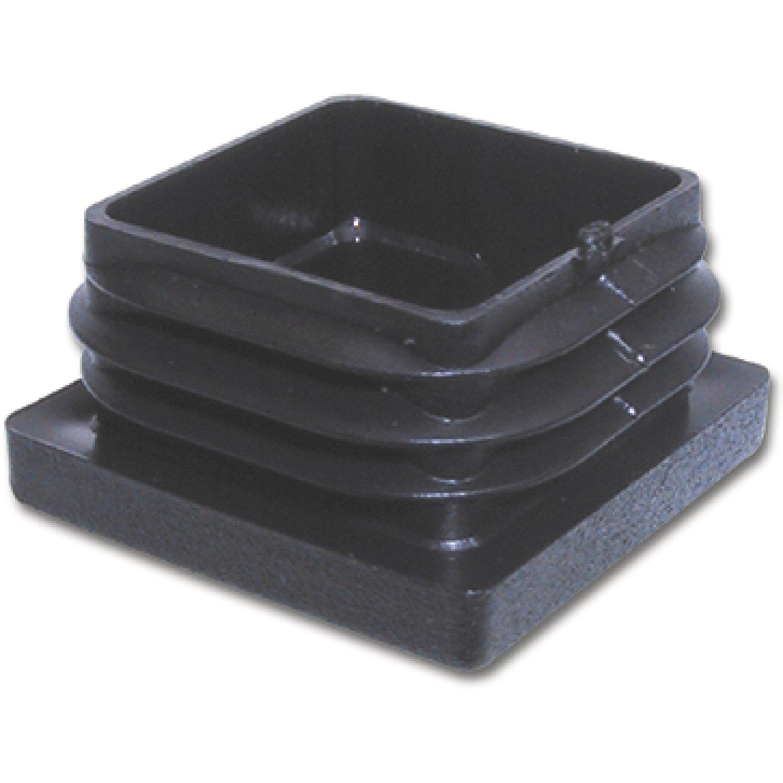 secotec Soporte Tapas para tubos cuadrados Interior 40 x 40 mm Negro SB de 4, 4 unidades, 323617/4 4unidades