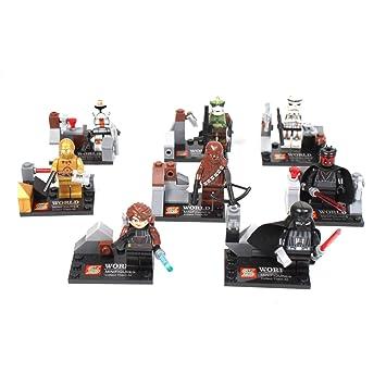 Lego Compatible Star Wars Figures 8 Pcs - Darth Vader, Chewbacca ...