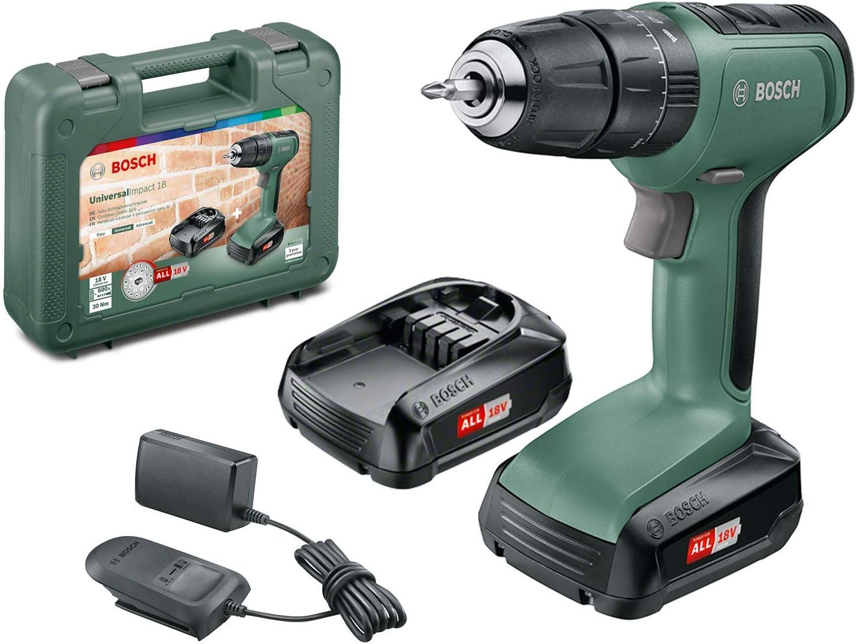 Bosch UniversalImpact 18 - Taladro, 2 Baterías, Sistema de 18 V, en Maletín: Amazon.es: Bricolaje y herramientas
