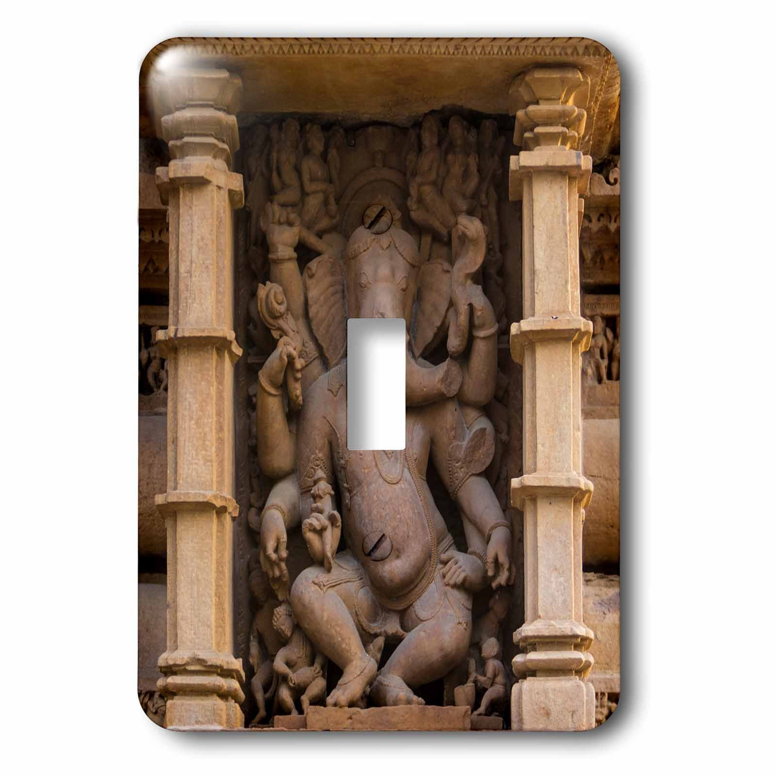 3dRose Danita Delimont - Temples - India. Hindu temples at Khajuraho, elephant deity carving. - Light Switch Covers - single toggle switch (lsp_276793_1)