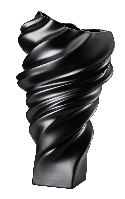 ROSENTHAL STUDIO-LINE GIFT PORCELAIN GIFT PORCELAIN SQUALL VASE 32CM BLACK MAT B01JPG07EI