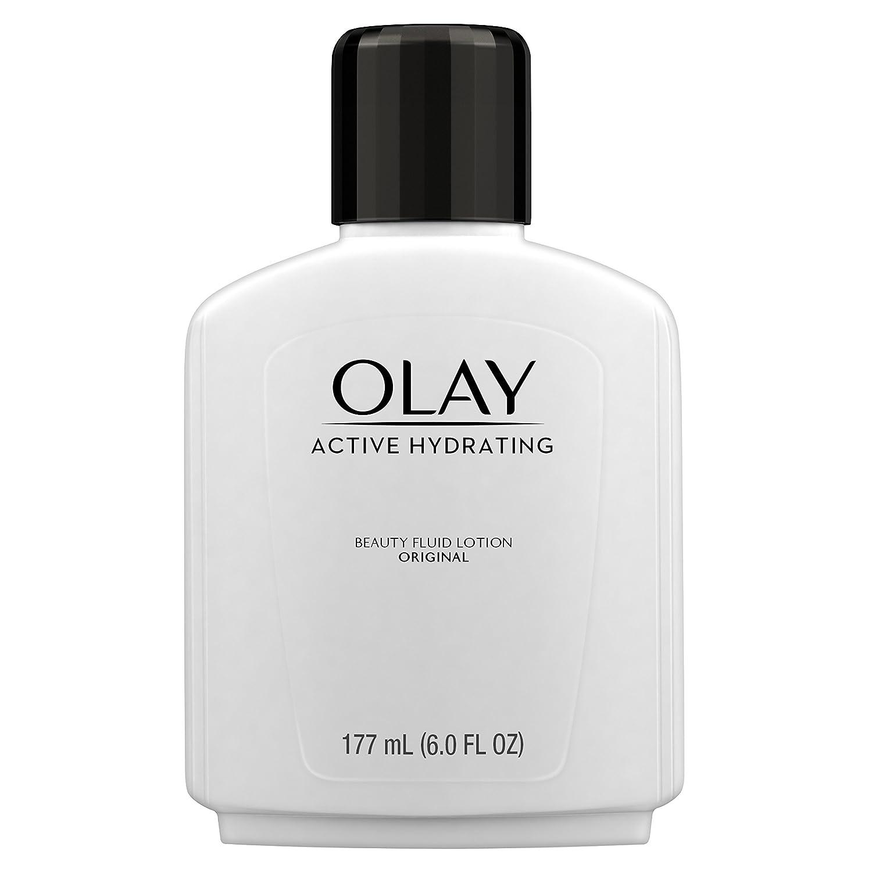 Face Moisturizer by Olay, Active Hydrating Beauty Moisturizing Lotion, 6 fl oz (Pack of 2)