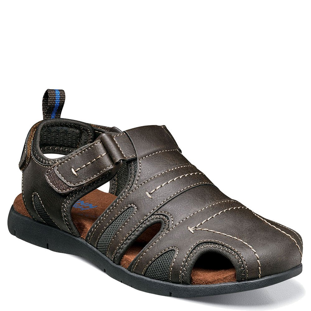 Nunn Bush Men's Rio Grande Closed Toe Fisherman Sandal, Brown, 10 Wide US