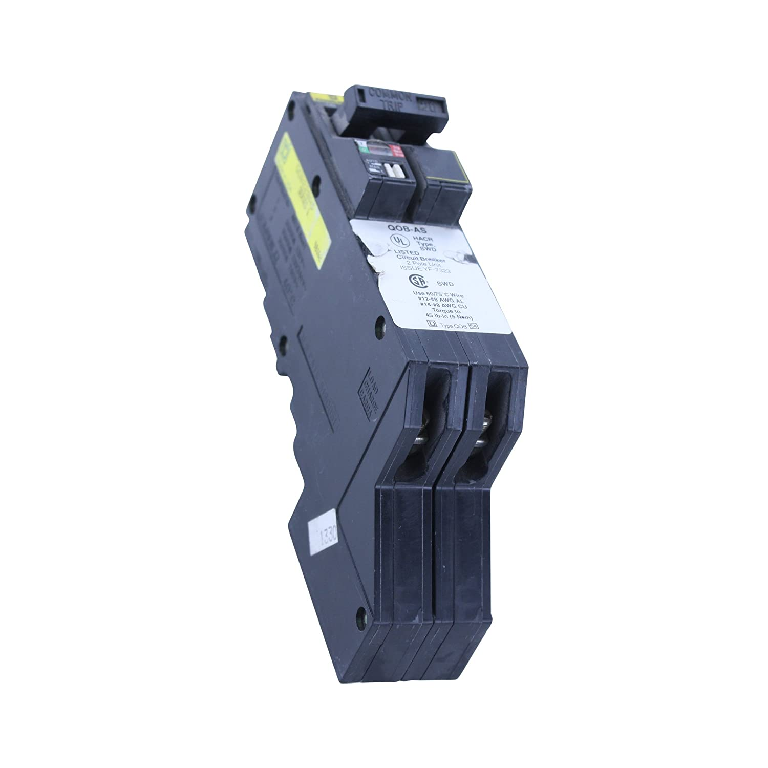 Qob220as Square D Powerlink 20a 2p Remote Breaker 20 Amp Qob 120 240 Two Pole 30 Circuit Hom230cp By Schneider Electric Volt 2