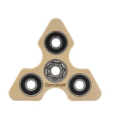Yomaxer Focus Toys Wood Tri-Spinner