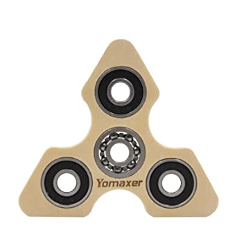 Yomaxer Focus Toys Wood Tri-Spinner Fidget Toy EDC A Good Choice for  Killing Time