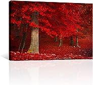 CANVAS REVOLUTION   Cuadro Decorativo Canvas Lienzo Impresión   Naturaleza   Arboles Rojos   Diferentes Dimensiones Tamaños