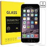iPhone 6 6S Panzerglas Schutzfolie, DOSMUNG[2 Stück] Panzerglasfolie iPhone 6 6s, 3D Touch Kompatible-0.33mm,4,7 Zoll, 9H Härtegrad Gehärtetem Glas Displayschutzfolie-99% Transparenz-Schutz vor Wasser, Öl, Staub und Kratzern