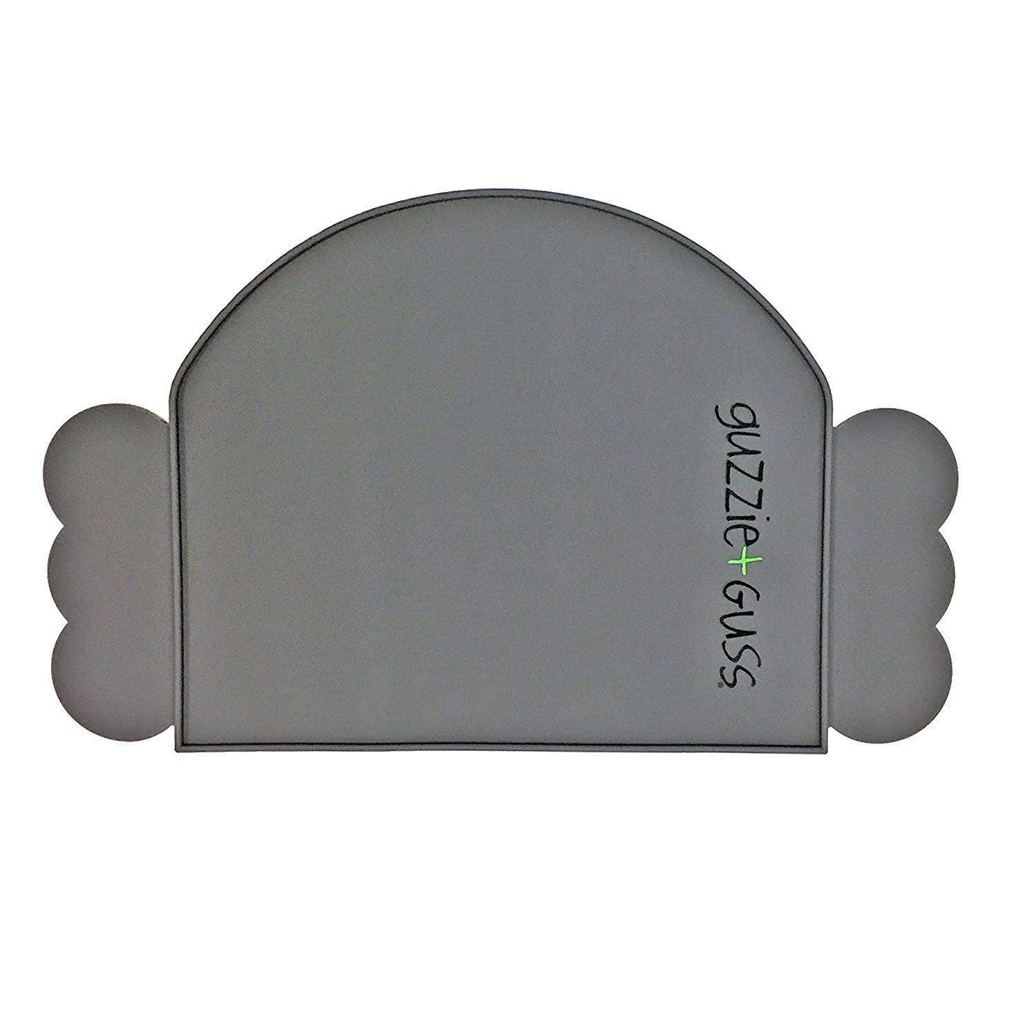 guzzie+Guss Perch Silicone Table Chair Placemat, Made of Food Grade Silicone, Easy to Clean, Dishwasher Safe, Grey