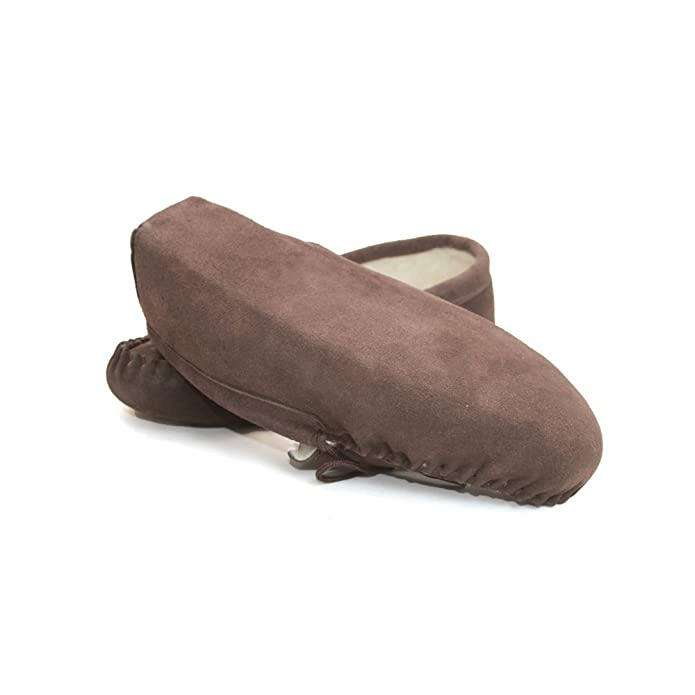 Amazon.com | Eastern Counties Leather Unisex Wool-Blend Soft Sole Moccasins | Slippers