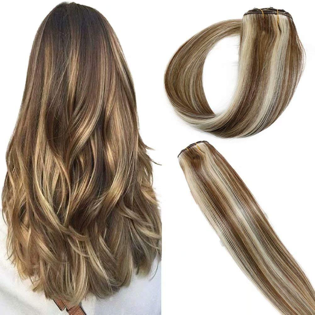 PERFECTOP Clip in Hair Extensions Straight San Diego Mall 70grams Real Hum Max 51% OFF Fine