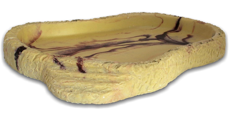 ラッキー爬虫類FDG食品皿花崗岩 - 小 B01ATH60KC