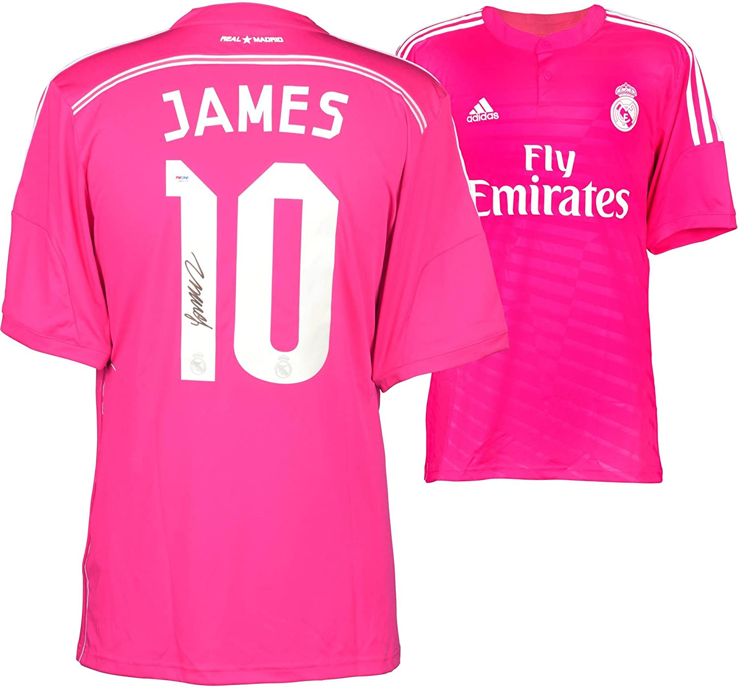 608c412f2b7 James Rodriguez Real Madrid Autographed Pink Jersey - Fanatics Authentic  Certified - Autographed Soccer Jerseys at Amazon's Sports Collectibles Store