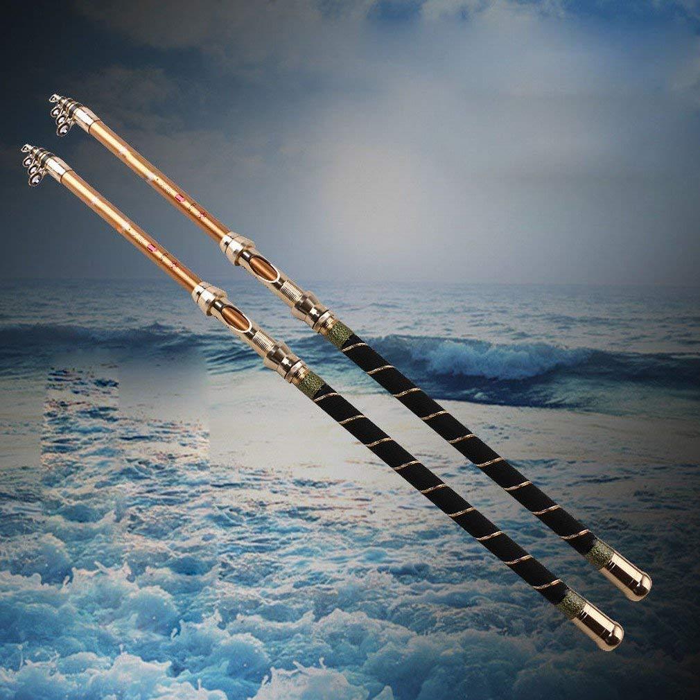 純粋なカーボン海極の極度の堅い2.12.42.7 M 3.03.6メートルの長い釣ざお、2.1m