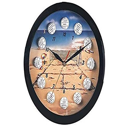 Volleyball Sports Themed Collectible Wall Clock Hanging Decorative