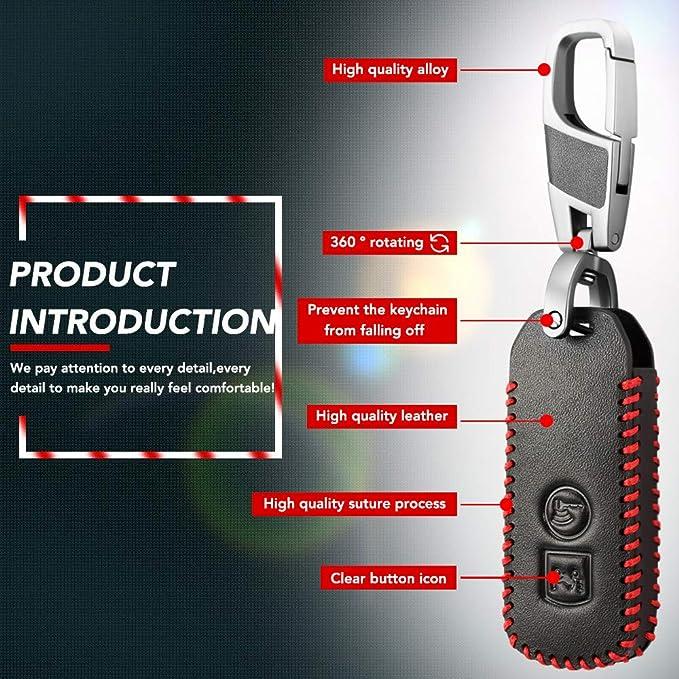 2 pulsanti LJQXBF Coperchio chiave auto Portachiavi in pelle protettiva per Honda X ADV SH 300 150 125 Forza 300 125 PCX150 2018 Moto Scooter 2//3 pulsante Smart Key