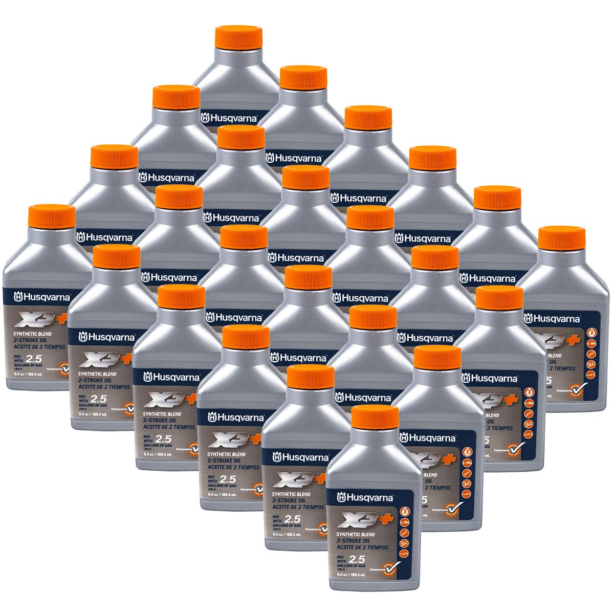 Husqvarna 24PK Genuine OEM XP 2-Cycle Oil 2.5 Gallon Mix 6.4oz 593152303