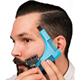 Beard Shaping Tool by FEDOLI ✮ Premium Quality Hairline/Beard Trimming Template ✮ Mustache Grooming Guide-Lining/Shaping/Edging (Multi-Curve) for Men and Barber