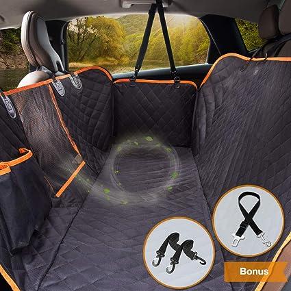 iBuddy Dog Car Seat Covers Back Cars//Trucks//SUV Waterproof Hammock Mesh Window