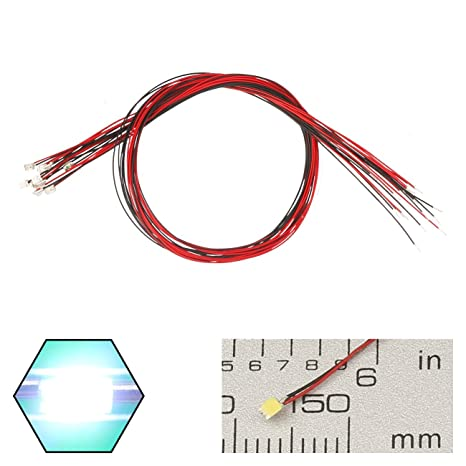 edgelec 20pcs prewired 0805 white smd led light emitting diode dc 3v led resistor wiring edgelec 20pcs prewired 0805 white smd led light emitting diode dc 3v micro litz length 7 8