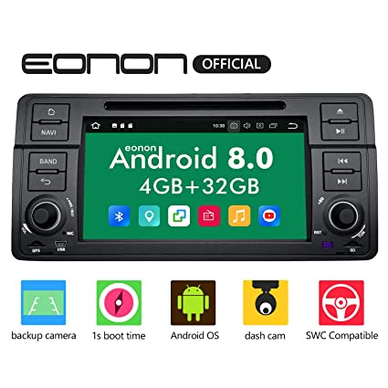 amazon com car stereo radio eonon double din with backup  car stereo radio eonon double din with backup cameratouch screen, 4gb ram 32gb rom octa