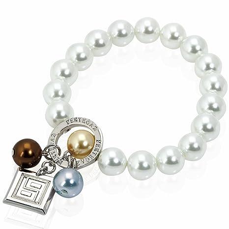 Pulsera Grace colección Pertegaz, perla natural y colgante plateado. 20x 0,9x0,