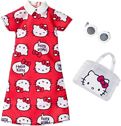 6a0c7b3da Image Unavailable. Image not available for. Color: Barbie Fashions Hello  Kitty Red Dress