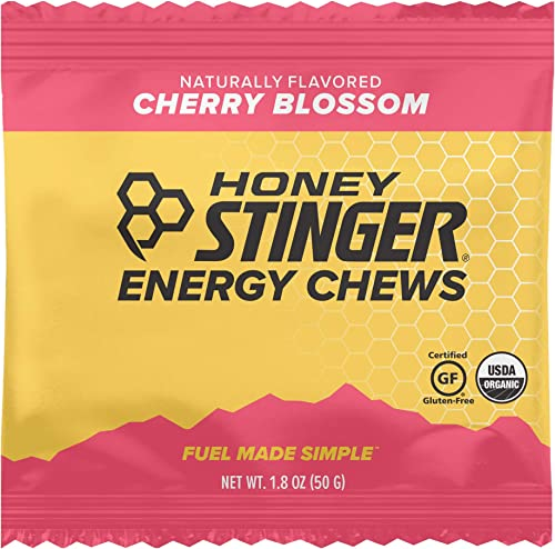 Honey Stinger Organic Energy Chews, Cherry Blossom, Sports Nutrition, 1.8 Ounce 50 Grams Pack of 12