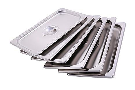 Amazon.com: CMI - Tapas de acero inoxidable con asa, tamaño ...