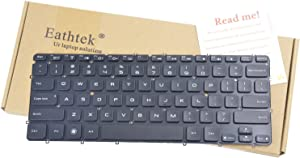 Eathtek Replacement Backlit Keyboard without Frame for DELL XPS 12 13 13R 13D 13Z L321X L322X series Black US Layout, Compatible with part# 0X52TT X52TT AED13U00110 PK130S72A00 0P6DWF P6DWF