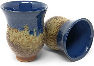 product image for Dock 6 Pottery Sake Cup, Blue/Copper, Set of 2