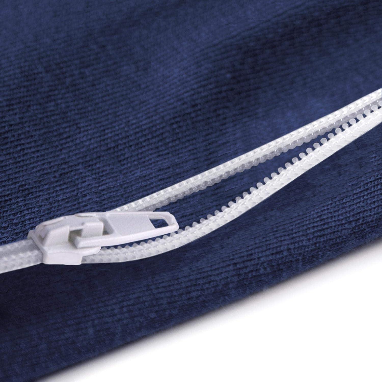 Color Gris aqua-textil Classic Line Ergo.150 2 algod/ón, 2 Unidades Funda de coj/ín