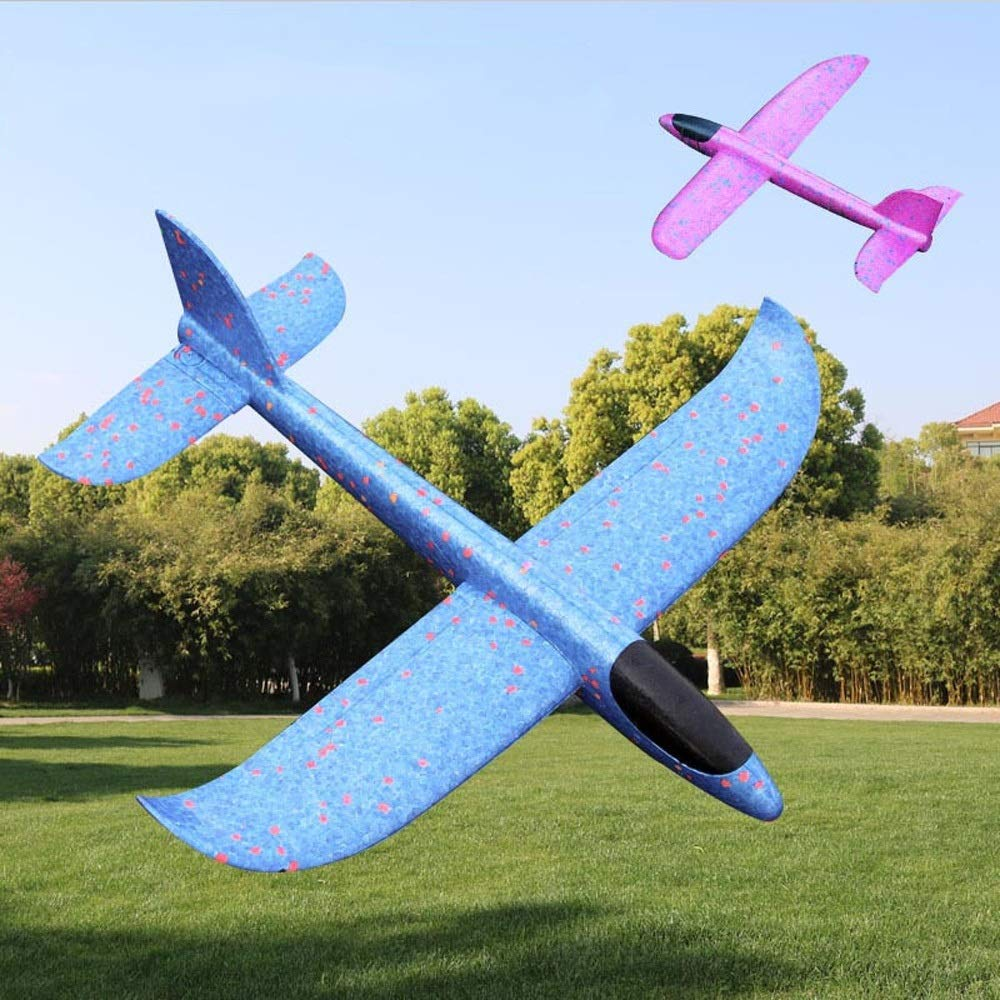 Kikioo Hand Launch Glider Planes Airplane, Flying Glider Planes Throwing Foam Airplane Mode Durable Aircraft For Kids Outdoor Sport Toys 3 Year Old Boy,Outdoor Sport Game Toys, Birthday Party Blue by Kikioo (Image #1)