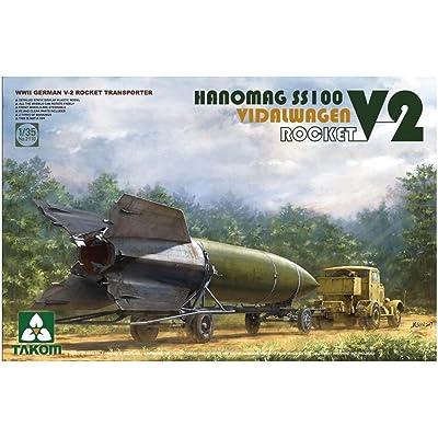 TAK02110 1:35 Takom WW2 German V-2 Rocket Transporter Hanomag SS100 Vidalwagen V2 Rocket [MODEL BUILDING KIT]: Toys & Games