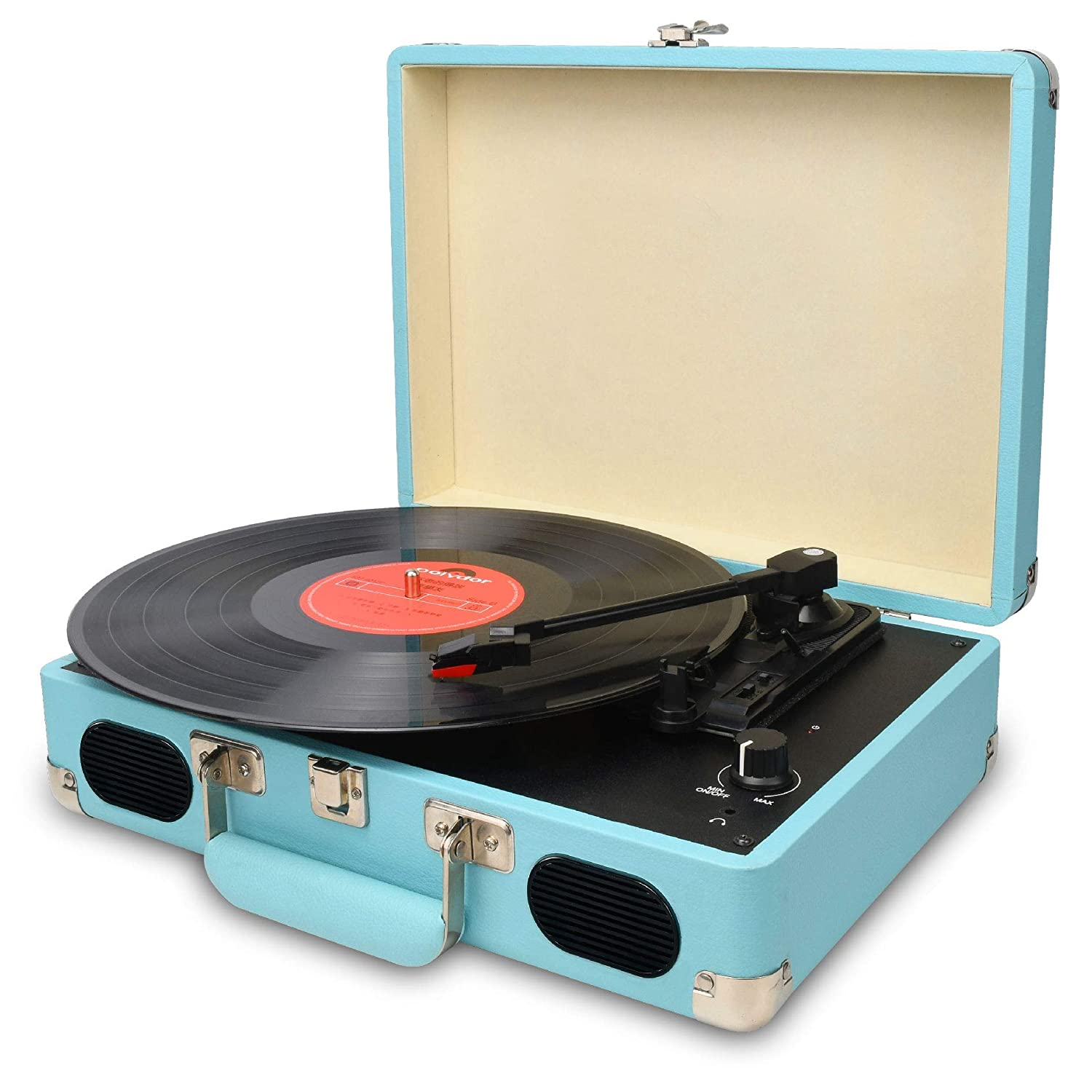 DIGITNOW! Turntable record player 3speeds with Built-in Stereo Speakers,  Supports USB / RCA Output / Headphone Jack / MP3 / Mobile Phones Music