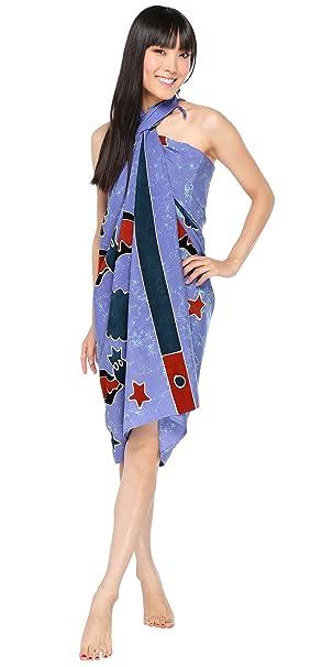 e15e0a95861d5 1 World Sarongs Womens Premium Light Blue Bat Swimsuit Cover-Up ...