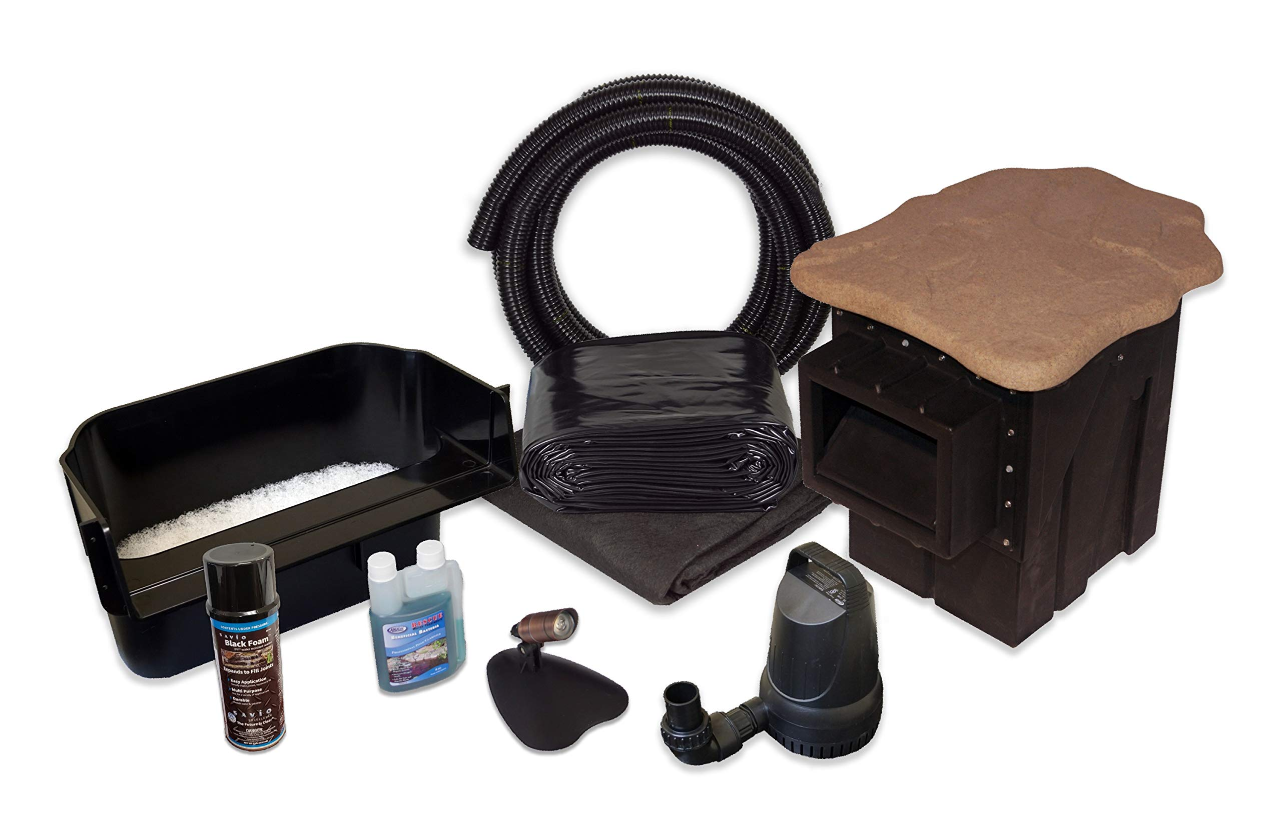 Simply Ponds 2100 Water Garden and Pond Kit with 15 Foot x 15 Foot PVC Liner by HALF OFF PONDS