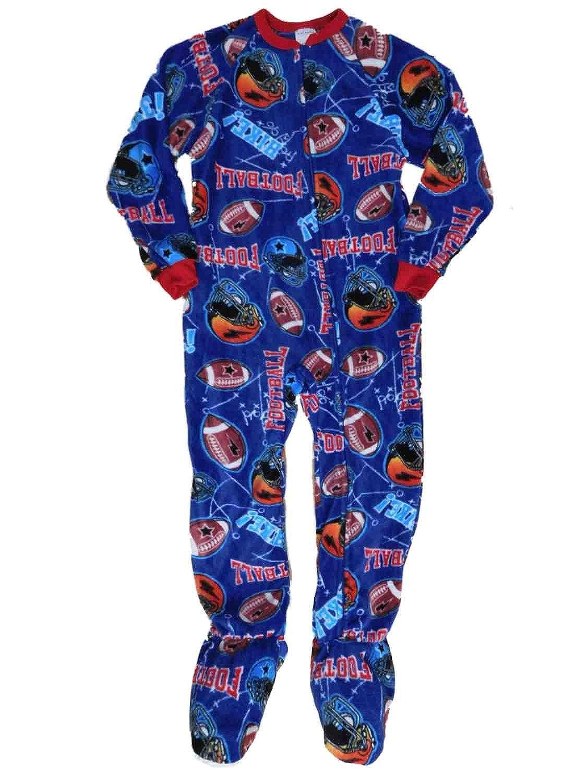 37ac98642 Amazon.com  Boys Blue Fleece American Football Blanket Sleeper ...