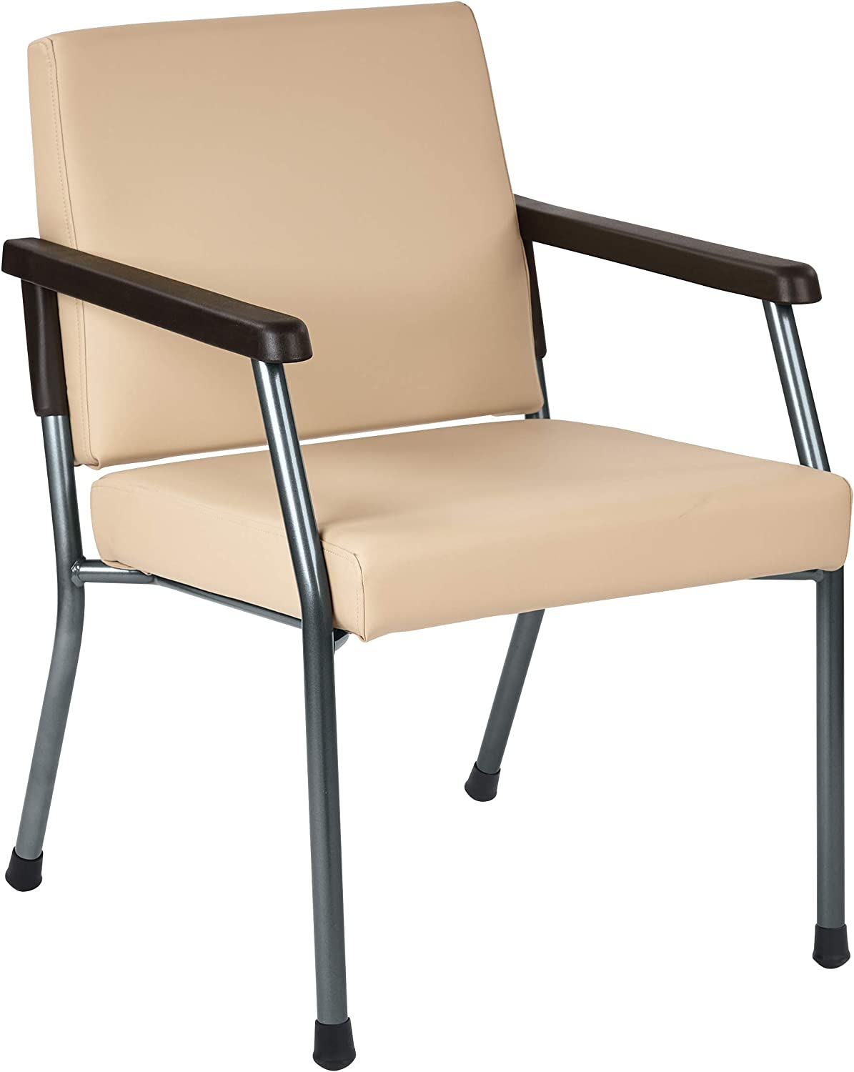 Office Star Bariatric Big and Tall Medical Office Chair with Wider Seat and  Sturdy Metal Frame with Back Reinforcement, Dillon Buff Faux Leather