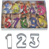"""R & M Set of 9 Number Cookie Cutters With Interior Cutouts - Favorite of Bakers 2.5"""" High"""