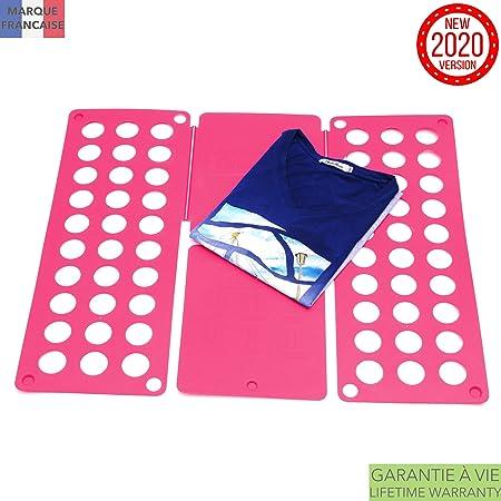 Planche /À Plier Les T-Shirts Takit Planche /À Plier Le Linge Rose 70x59cm Planche /À Plier Les Robes Pantalons Serviettes T-Shirts//Planche /À Plier Le Linge