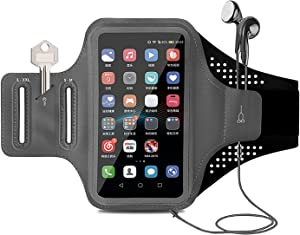 Waterproof Armband for Cell Phone Running iPhone 11 Pro Max Xs Xr X 8 7 6 Plus/Samsung Galaxy,Runner Armband Phone Holder for Workout/Sports/Exercise/Fitness/Jogging/Gym Arm Case Fingerprint Touch ID