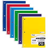 Mead Spiral Notebooks, 1 Subject, College Ruled Paper, 70 Sheets, Colored Note Books, Lined Paper, Home School Supplies for C